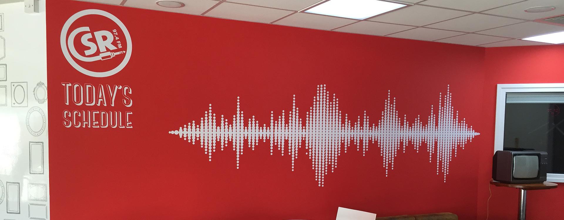 CSR FM Wall Sign