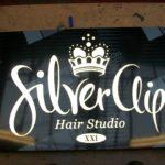 Silver Clip Hair Studio Sign