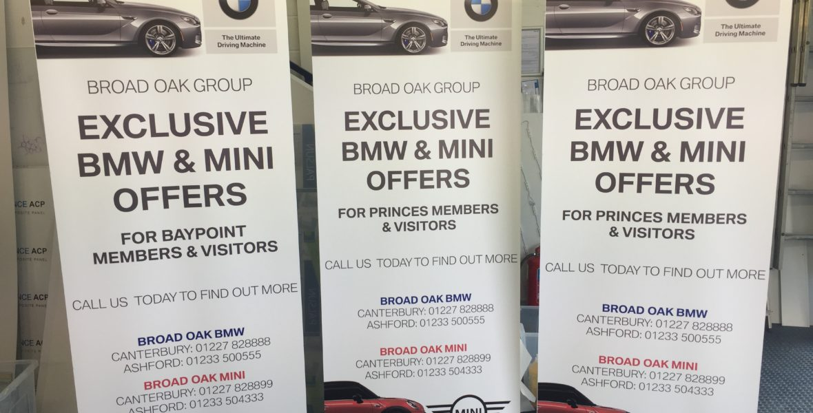 BMW Freestanding Banners