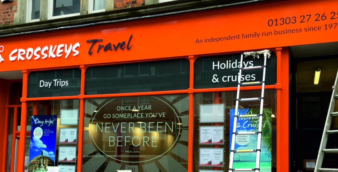 Crosskeys Travel Shop Sign