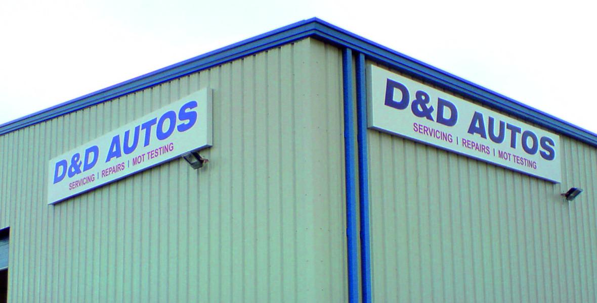 D&D Autos Sign
