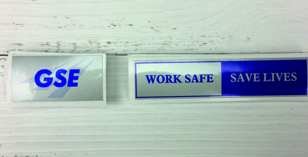 GSE Work Safe Stickers