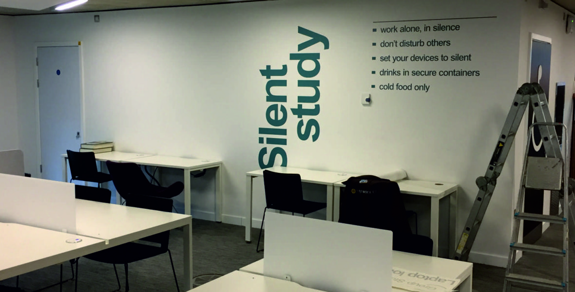 Group study wall graphic