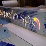 Backlit Aquaria Spa Sign