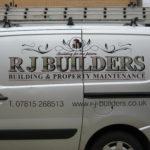 RJ Builders Vehicle Sign