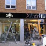 Silver Clip Hair Studio Shop Sign