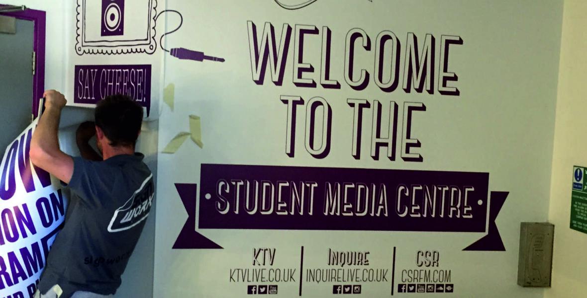 Student Media Centre Signage