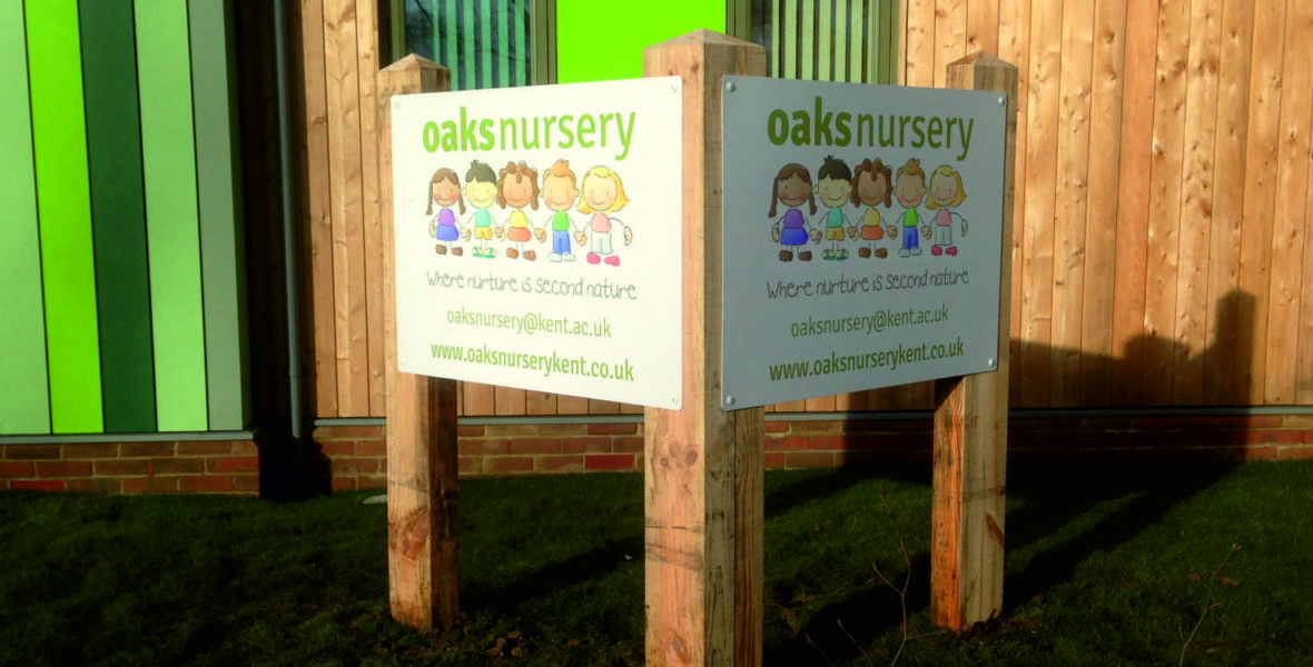 Oaks Nursery Sign