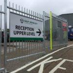 S & P Brisley Gate Sign