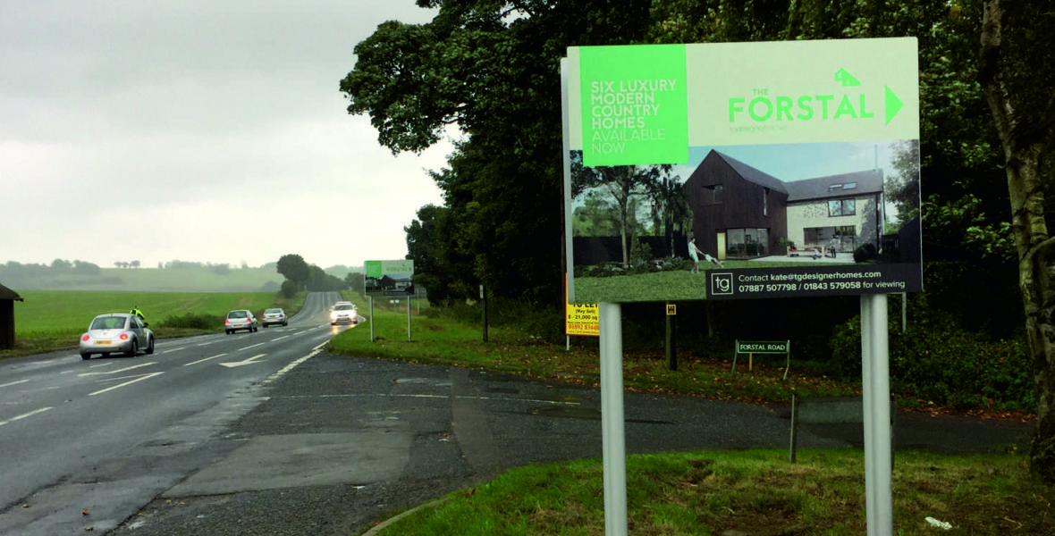The Forstal Freestanding Sign