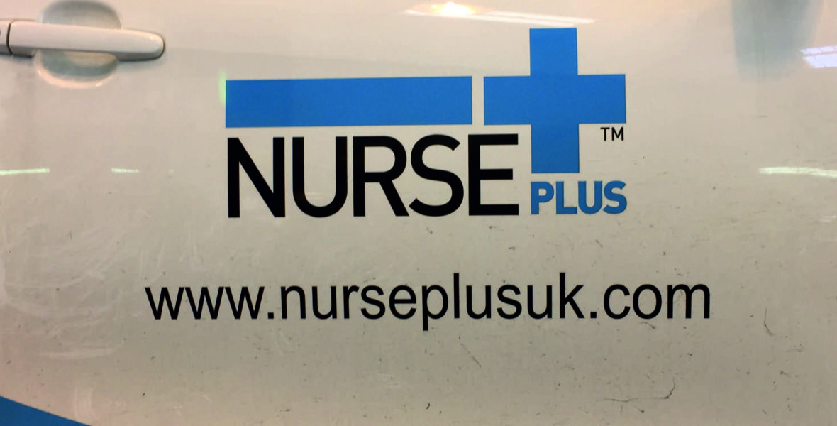 Nurse Plus Vehicle Sign