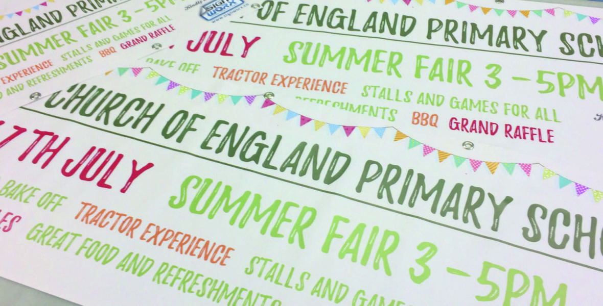 Stowting Summer Fair Banners