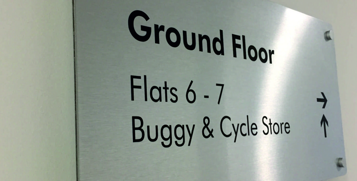 ground floor wall sign