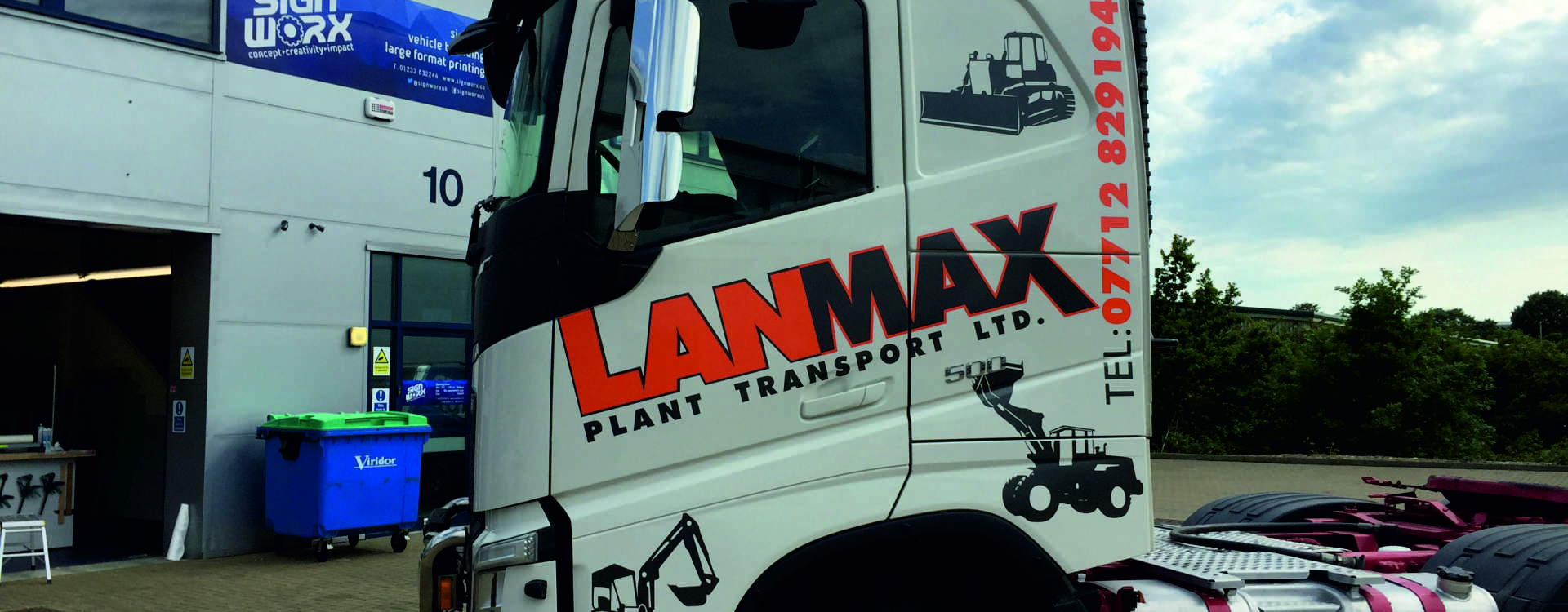 Lanmax Lorry Vinyl Vehicle Wrap